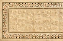 Taj Mahal, mosaico veteado del embutido Imágenes de archivo libres de regalías