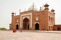 Taj Mahal Moschee in Agra, Indien Stockfoto