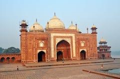 Taj Mahal moské Royaltyfri Fotografi