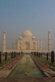 The Taj Mahal. The most famous photo op for the Taj Mahal Stock Photo
