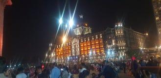 Taj Mahal Mumbai bramy hotelowy sposób India obrazy royalty free