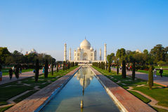 Taj Mahal na luz do por do sol, Agra, Uttar Pradesh, Índia Imagens de Stock Royalty Free