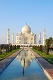 Taj Mahal na luz do por do sol, Agra, Uttar Pradesh, Índia Fotografia de Stock