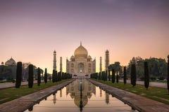 Taj Mahal-Nacht stockfotografie