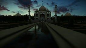Taj Mahal, nascer do sol bonito do timelapse, bandeja da câmera ilustração stock