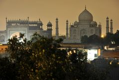 Taj Mahal at night Royalty Free Stock Images