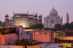 Taj mahal at night, Agra, India Royalty Free Stock Photos