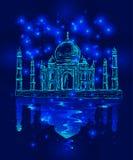 Taj Mahal in the night Stock Photography