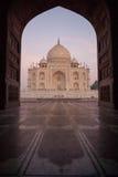 Taj Mahal no por do sol imagens de stock royalty free