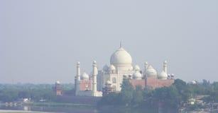 Taj Mahal od fortu Agra, Północny India Fotografia Stock