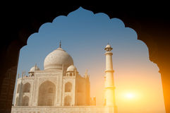 Taj Mahal-overwelfde galerijmening Stock Foto's