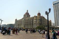Taj Mahal pałac hotel jest pięć gwiazdowym luksusowym hotelem lokalizować blisko bramy India Obraz Royalty Free