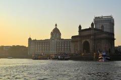 Taj Mahal Palace em Mumbai, Índia fotografia de stock royalty free