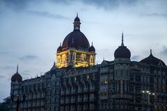 Taj Mahal Palace Hotel in Mumbai, India. This five star hotel was opened at 1903 and have 560 rooms and 44 suites Royalty Free Stock Photo