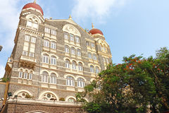 Taj mahal palace hotel on the sea front mumbai Royalty Free Stock Photo
