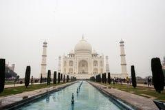 Taj Mahal Palace i Agra Arkivbild