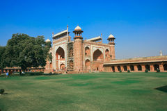 Taj Mahal palace in India. Taj Mahal gate in India Royalty Free Stock Image