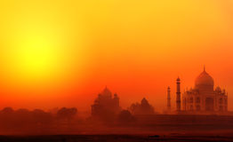 Taj Mahal Palace in India. Indian Temple Tajmahal sunset Stock Photography