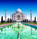 Taj Mahal Palace in India, tempio indiano il Taj Mahal Fotografia Stock