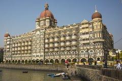 The Taj Mahal Palace in Mumbai. The grand Taj Mahal Palace sits on the edge of the bay in Mumbai, India Royalty Free Stock Photography