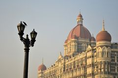 Taj Mahal Palace in Mumbai, India. Taj Mahal Palace near gateway in Mumbai, India Royalty Free Stock Photos