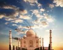 Taj Mahal Palast stockfotografie