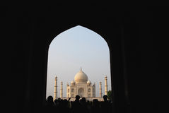 Taj Mahal Panorama Royalty Free Stock Photography