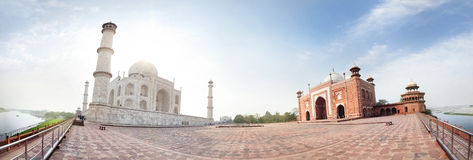 Taj Mahal panorama Stock Images