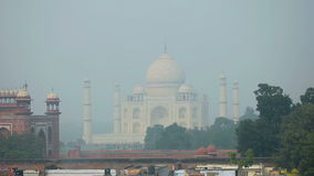 Taj Mahal stock video footage