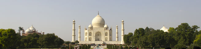 Taj Mahal (Panoroma View), Agra Stock Photos