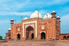 Taj Mahal. Part Taj Mahal monument in Agra, India Stock Photo