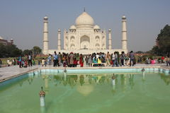 The Taj Mahal through people Royalty Free Stock Photography