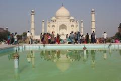 The Taj Mahal through people Royalty Free Stock Photo