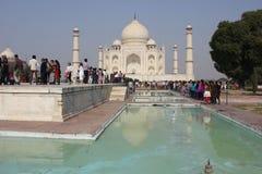 The Taj Mahal through people Royalty Free Stock Image