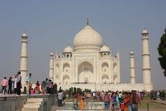 The Taj Mahal through people Stock Photo