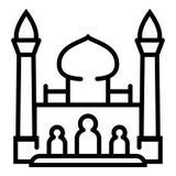 Taj mahal pictogram, overzichtsstijl stock illustratie