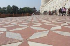 Taj Mahal, podłogowy szczegół Obraz Stock