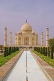 Taj Mahal with the Pool and Garden Royalty Free Stock Image