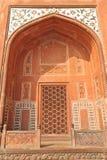 Taj Mahal powikłanej bramy architektoniczny szczegół Zdjęcie Royalty Free