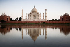 Taj Mahal reflected in river a Royalty Free Stock Image