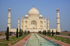 Taj Mahal with reflecting pool in Agra, Uttar Pradesh, India Stock Photos