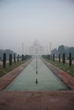 Taj Mahal and reflecting pools Royalty Free Stock Photo