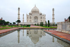 Taj Mahal Reflection. Reflection of Taj Mahal in water Stock Image