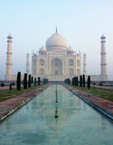 Taj Mahal Reflection. Taj mahal and it's reflection make a beautiful art Stock Photos