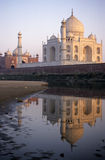 Taj Mahal Reflexion. Photo of the Taj Mahal reflected in the river. Agra, Northern India Royalty Free Stock Photo