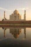 Taj Mahal Reflexion Lizenzfreie Stockfotografie