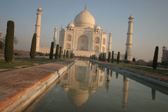Taj Mahal Reflexion Stockfotos