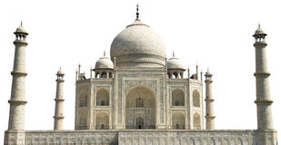 Taj Mahal, Reis aan Agra Geïsoleerd India, Stock Foto