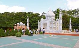 Taj mahal reproduction at window of the world, shenzhen, china Royalty Free Stock Photos