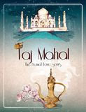 Taj Mahal retro poster Stock Photography